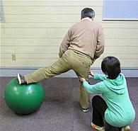 バランスボール練習02